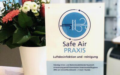 Wir sind eine Safe Air Praxis!